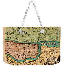 Map Of Iraq 1680 Weekender Tote Bag by Andrew Fare