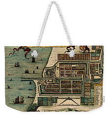 Map Of Java 1669 Weekender Tote Bag by Andrew Fare