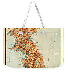 Map Of Korea 1903 Weekender Tote Bag by Andrew Fare