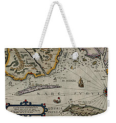 Map Of Sweden 1606 Weekender Tote Bag by Andrew Fare