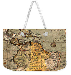 Map Of The Americas 1570 Weekender Tote Bag by Andrew Fare