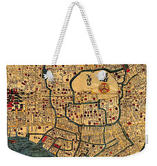 Map Of Tokyo 1845 Weekender Tote Bag by Andrew Fare