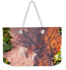 Maple Leaf And Grass Weekender Tote Bag
