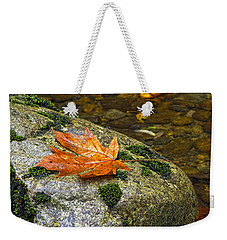 Maple Leaf On A Rock Weekender Tote Bag