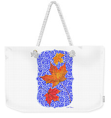 Maple Leaves Weekender Tote Bag by Lise Winne