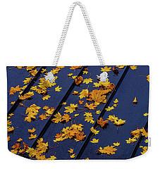 Maple Leaves On A Metal Roof Weekender Tote Bag
