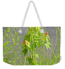 Maple On Lake Weekender Tote Bag