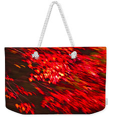 Maple Red Abstract Weekender Tote Bag