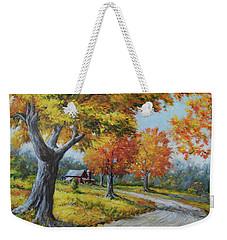 Maple Road Weekender Tote Bag
