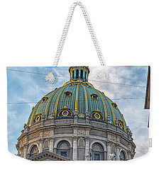 Weekender Tote Bag featuring the photograph Marble Church In Copenhagen by Antony McAulay