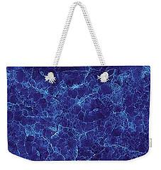 Marble Blue Weekender Tote Bag