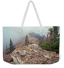 Marble View Fog Weekender Tote Bag