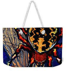 Marbled Orbweaver Weekender Tote Bag by Emily McLaughlin