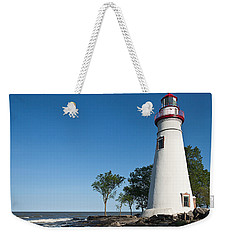Marblehead Lighthouse Weekender Tote Bag by Dale Kincaid