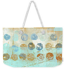 Weekender Tote Bag featuring the mixed media Marbles Found Number 1 by Carol Leigh