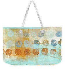 Weekender Tote Bag featuring the mixed media Marbles Found Number 2 by Carol Leigh