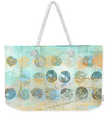 Weekender Tote Bag featuring the mixed media Marbles Found Number 4 by Carol Leigh