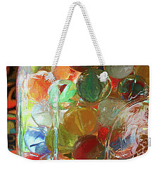 Marbles In A Jar 2 Painterly Weekender Tote Bag