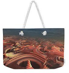 Weekender Tote Bag featuring the painting Marbletropolis by Dave Luebbert