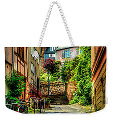 Weekender Tote Bag featuring the photograph Marburg Alley by David Morefield