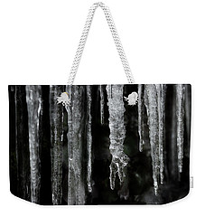 Weekender Tote Bag featuring the photograph March Icicles by Mike Eingle
