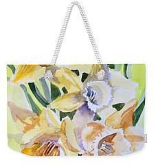 March Of Daffodils Weekender Tote Bag by Mindy Newman