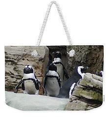 March Of The Penguins Weekender Tote Bag by B Wayne Mullins