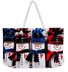 March Of The Snowmen Weekender Tote Bag