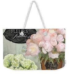 Marche Aux Fleurs 2 - Peonies N Hydrangeas Weekender Tote Bag