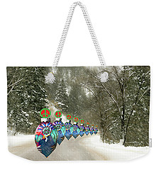 Weekender Tote Bag featuring the photograph Marching Peace Ornaments by Lou Novick