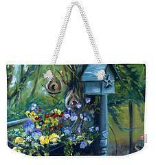 Marcia's Garden Weekender Tote Bag by Donna Tuten