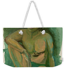 Weekender Tote Bag featuring the drawing Marco by Paul McKey