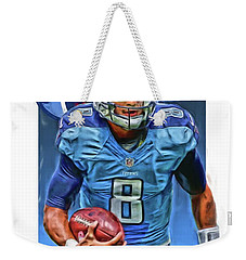 Marcus Mariota Tennessee Titans Oil Art Weekender Tote Bag