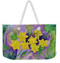 Mardi Gras Daffodils Weekender Tote Bag