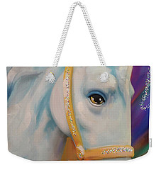 Mardi Gras Horse Weekender Tote Bag by Julianne Ososke