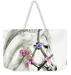Mare With Flowers Weekender Tote Bag