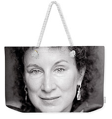 Margaret Atwood Weekender Tote Bag by Shaun Higson