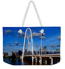 Margaret Hunt Hill Bridge Dallas Flood Weekender Tote Bag