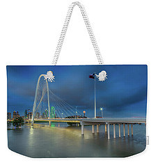 Weekender Tote Bag featuring the photograph Margaret Hunt Hill Bridge Dallas Texas by Robert Bellomy
