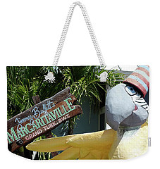 Weekender Tote Bag featuring the photograph Margaritaville Sign Turks And Caicos by Melinda Saminski