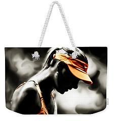 Maria Sharapova Deep Focus Weekender Tote Bag by Brian Reaves