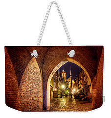 Weekender Tote Bag featuring the photograph Mariacka By Night  by Carol Japp