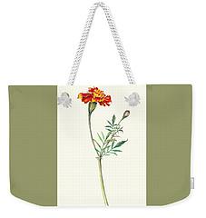 Weekender Tote Bag featuring the painting Marigold by Heidi Kriel