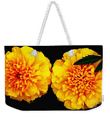 Marigolds With Oil Painting Effect Weekender Tote Bag by Rose Santuci-Sofranko