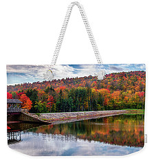 Weekender Tote Bag featuring the photograph Marilla Reservoir by Mark Papke