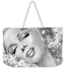 Marilyn Cherry Blossom Bw Weekender Tote Bag