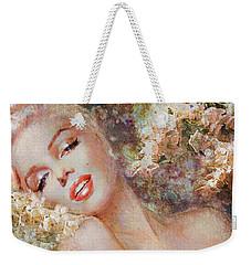 Marilyn Cherry Blossom Weekender Tote Bag