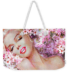 Marilyn Cherry Blossoms Pink Weekender Tote Bag
