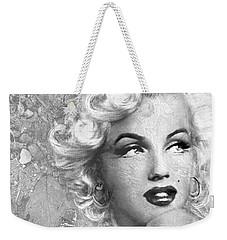 Marilyn Danella Ice Bw Weekender Tote Bag