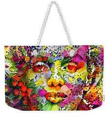 Marilyn Flower Weekender Tote Bag